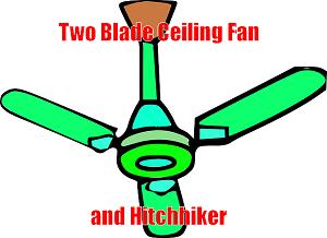 2 blade ceiling fan image