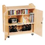 kids lockable art activity cabinet