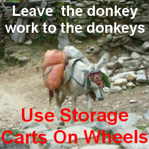 storage carts on wheels