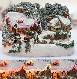 Fiber Optic Christmas Village Houses