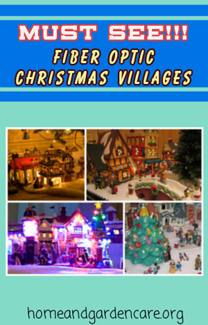 Fiber Optic Christmas Village