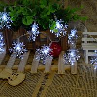 Flashing Snowflake Christmas Lights