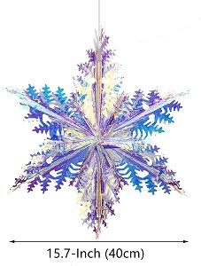 Iridescent Snowflake Ornament Hanging