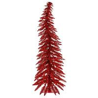 Red Pre-Lit Artificial Christmas Tree
