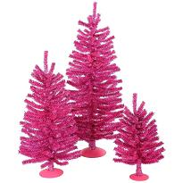 Small Pink Artificial Christmas Tree