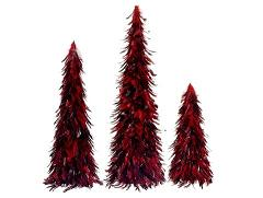 Small Red Artificial Christmas Tree