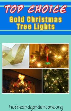 gold christmas tree lights