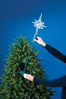 led color changing crystal star christmas tree topper