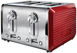 4 Slice Toaster Red