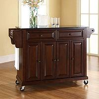 Crosley Black Granite Top Kitchen Cart Island