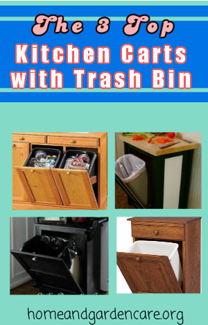 Kitchen Cart with Trash Bin
