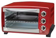 Red 4 Slice Toaster Oven