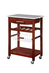 linon granite top kitchen cart