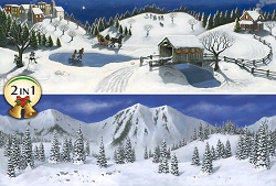 Christmas Village Backgrounds