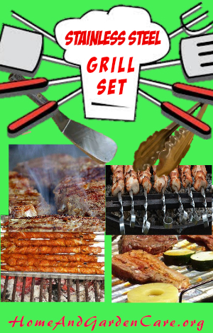 stainless steel grill set