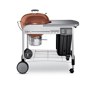 weber platinum charcoal grill in copper