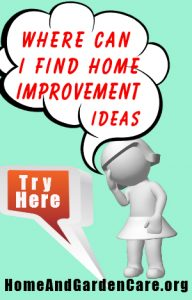 Wher to find easy home improvement ideas